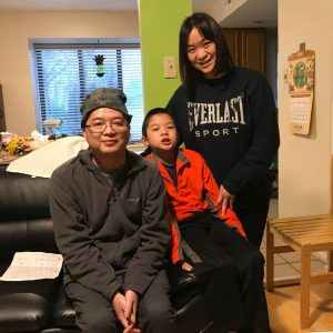Zhiying Wu and her family