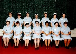 Simone first day of nursing school