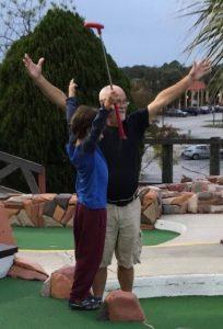 Donald Dunn golfing